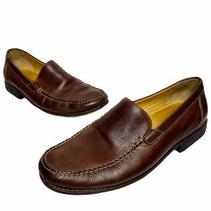 Johnston & Murphy | Brown Leather Slip On Loafers